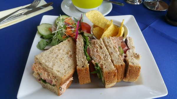 Crab Sandwich in the Dandelion Cafe - HF Holidays Freshwater Bay House Isle of Wight