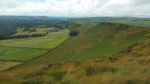 Walks And Walking - The Loaches Walk In The Peak District - Looking back along the Ridge