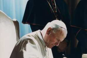 Pope John Paul II, to be beatified, with Pope Benedict XVI