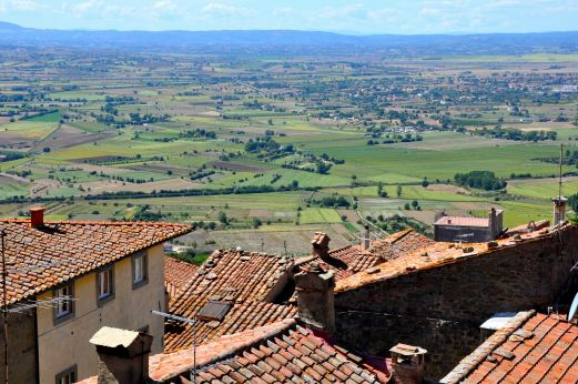 Cortona, a day trip from Florence or Siena