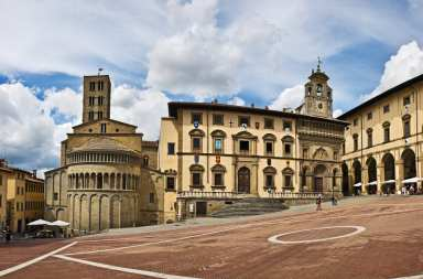 Arezzo, a beautiful town in Tuscany, Italy with lots of art and culture