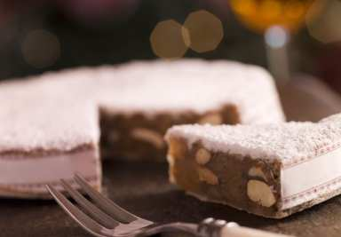 Panforte, a specialty of Siena, Tuscany