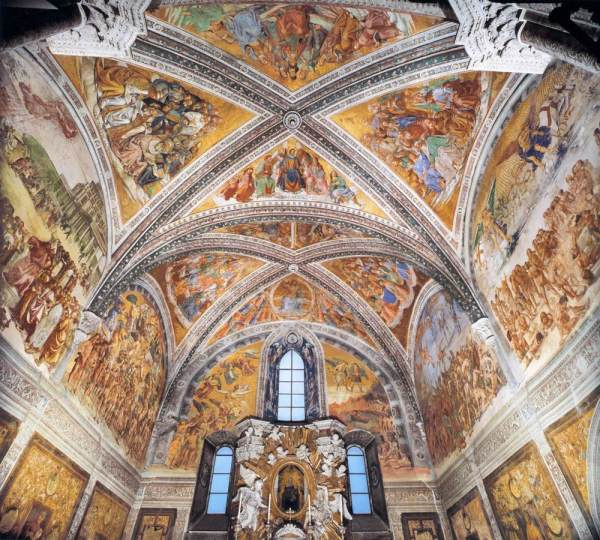 Cappella Nuova in the Duomo of Orvieto, which inspired Michelangelo in the Sistine Chapel