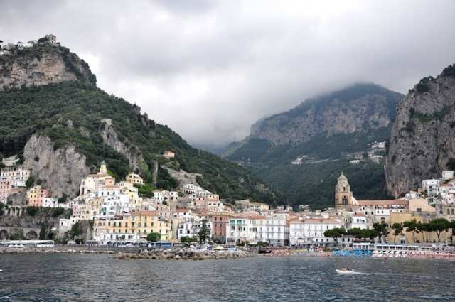 Get this view from the Amalfi coast boat, not the bus!