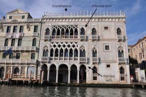 Reading a Venice palazzo