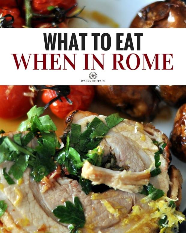 Porchetta is a delicacy in Rome. Find out what to eat in Rome! Photo courtesy of CycloneBill via Flickr: https://www.flickr.com/photos/cyclonebill/9151461617/in/photolist-eWFCGZ-f6ExQT-edc5kL-k2rho-77usUJ-cEXKmw-5dKz22-61B3zF-byYQpS-bkCYhL-8RkGyr-9nyi9y-6YjvCz-bRw86z-6XE1rx-4EdDnz-bMT1hM-9A1yB9-6XJ1yQ-8xEJrM-5arV4-5PXYb3-bfbxw-4XFXRc-5PXTQW-pX8Sws-o4rTts-7fnDTT-9Q1hbX-dULeQ9-ogrRmV-8F8c3k-8FbmE3-8zTTx1-5PTJmg-eK7fJT-5JeYJG-5PXVCf-62uD9B-22gekz-62yUnh-63YTyB-byYXfb-69kbMP-dUEE4e-61FeLJ-buTHjB-acBQQ-69poMs-ddfC54