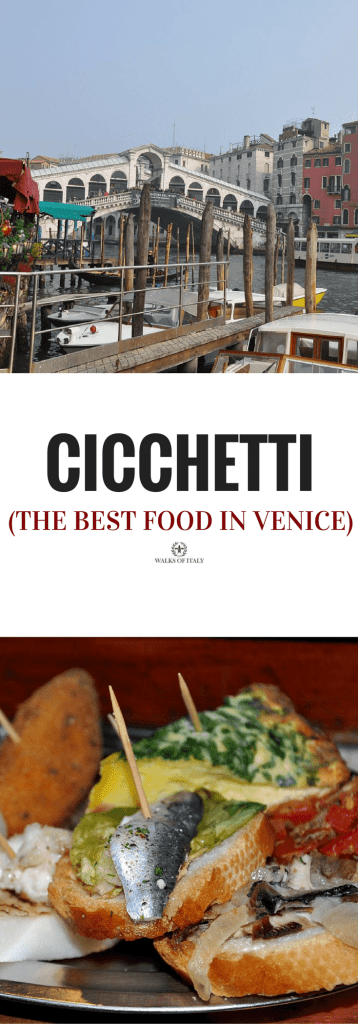 A plate of venetian tapas, or cicchetti in Bacaro. find out where to eat the best food in venice.