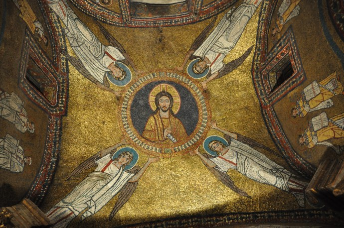 Byzantine mosaics in the church of Santa Prassede, Rome