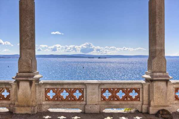 The best view of the sea in all of Trieste is without a doubt from Castello di Miramare.