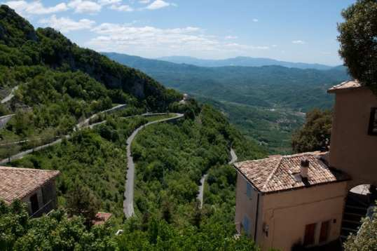 Small town of Cervara outside of Rome