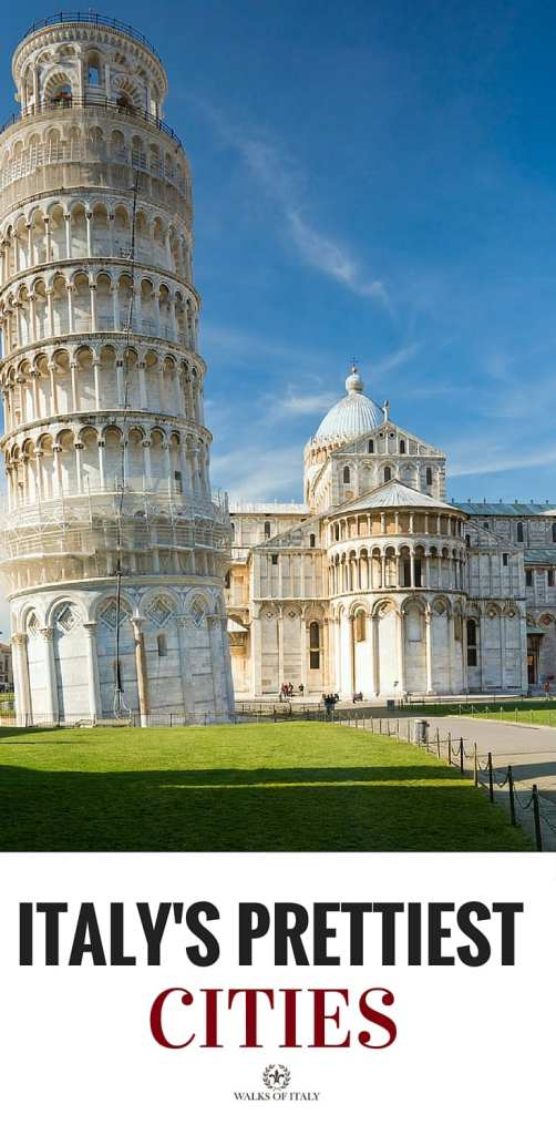 The leaning tower sits in Pisa, one of the 10 most beautiful cities in Italy. Find out the rest!