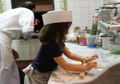 Kids can make their own pizzas, too!