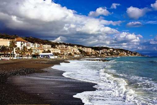 Beach in Italian Riviera
