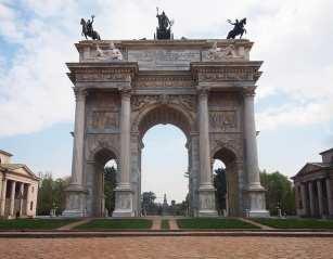 Arco della Pace in the park
