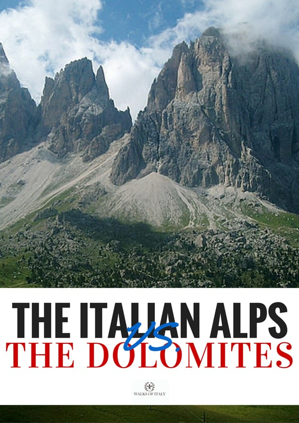 Should you visit the Dolomites? Or instead head into the Italian Alps? Find out the pros and cons of each on the Walks of Italy blog.