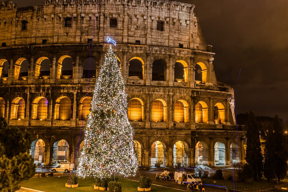 christmas tree at the colosseum - How Does Italy Celebrate Christmas