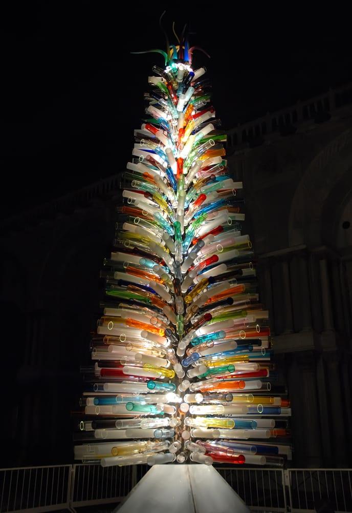 Venetian Glass Christmas Tree