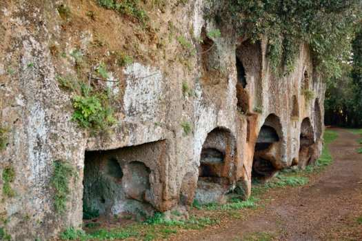 Etruscan necropolis in Sutri, outside of Rome