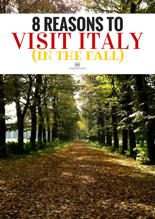 Autumn is one of the best times to visit Italy. Find out the top 6 reasons to visit Italy in the Fall on the Walks of Italy blog.