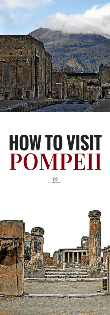 the ruins of pompeii sit beneath Mt. Vesuvius. Check out our guide to visiting Pompeii!