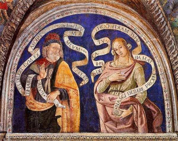 The Prophet Hosea and the Delphic Sibyl Fresco Borgia Apartments, Hall of the Sibyls. Photo from Wikicommons