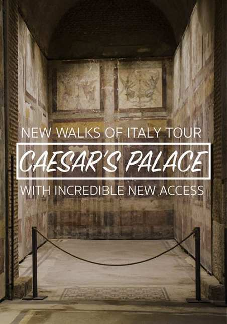 Brand new VIP Caesar's Palace Tour by Walks of Italy, including Casa di Livia and Casa di Augusto (for the first time!)