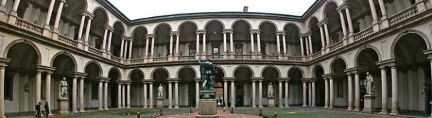 The main entrance to the Palazzo Brera, the 13th-century building that houses the Pinacoteca di Brera. Photo by François Philipp