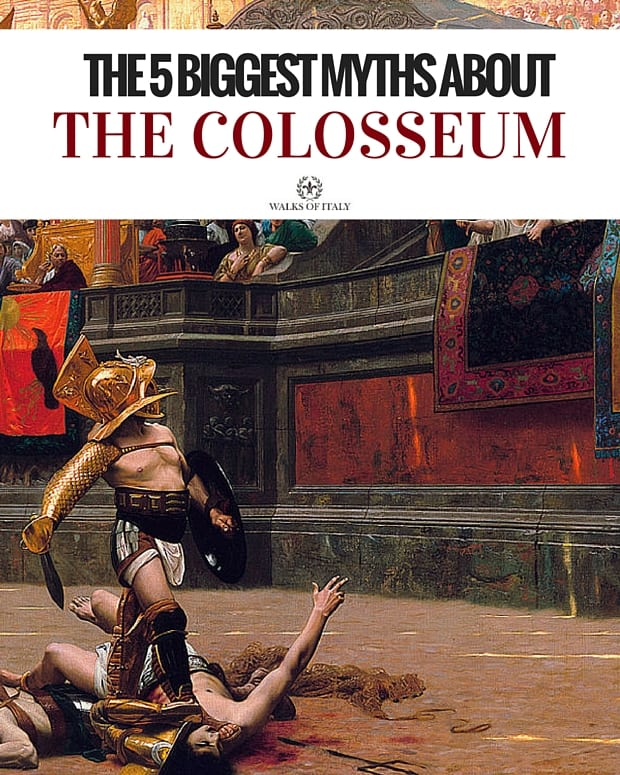 Jean-Léon Gérôme's famous painting Pollice Verso is beautiful, but probably not historically accurate. Found out the biggest myths about the Colosseum in our blog post!