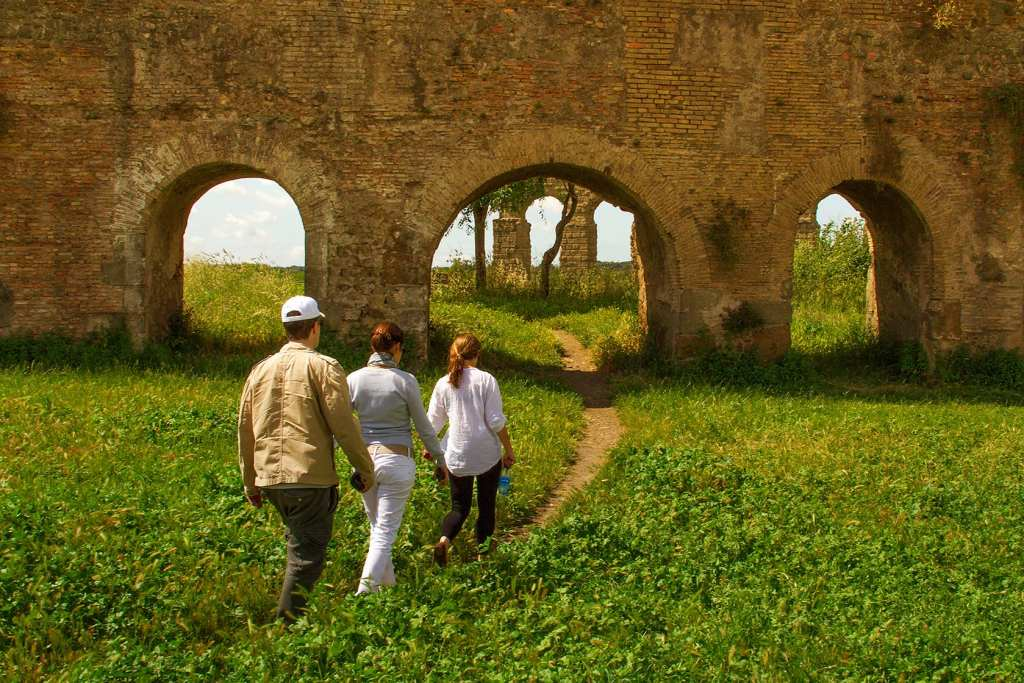 The aqueducts were some of the engineering marvels of ancient Rome and some of them are still in use today!