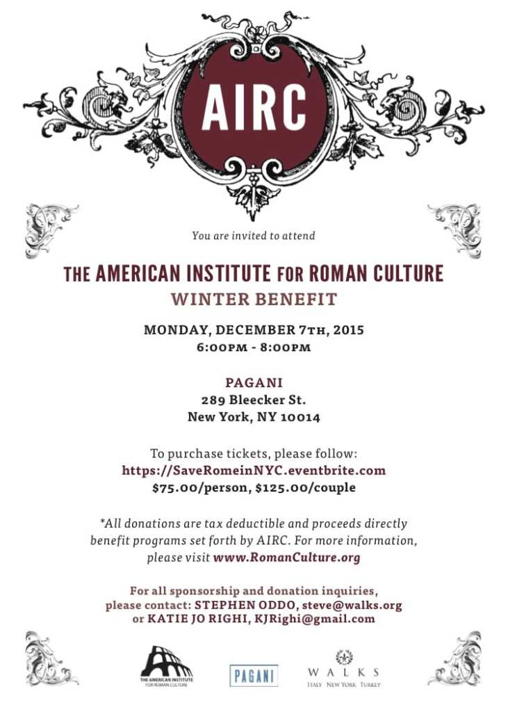 AIRC Winter Benefit Invite