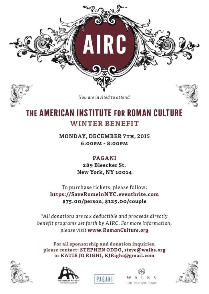 AIRC Winter Benefit Invite