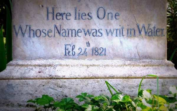 For a different perspective on Catholic Rome, visit poet John Keats' grave in the Protestant Cemetery in Testaccio. Photo by Steve Browne & John Verkleir