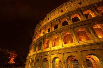 the Colosseum at Night