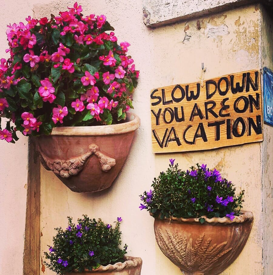 A bit of solid life-advice from an agriturismo in Umbria. | Photo by Toni DeBella