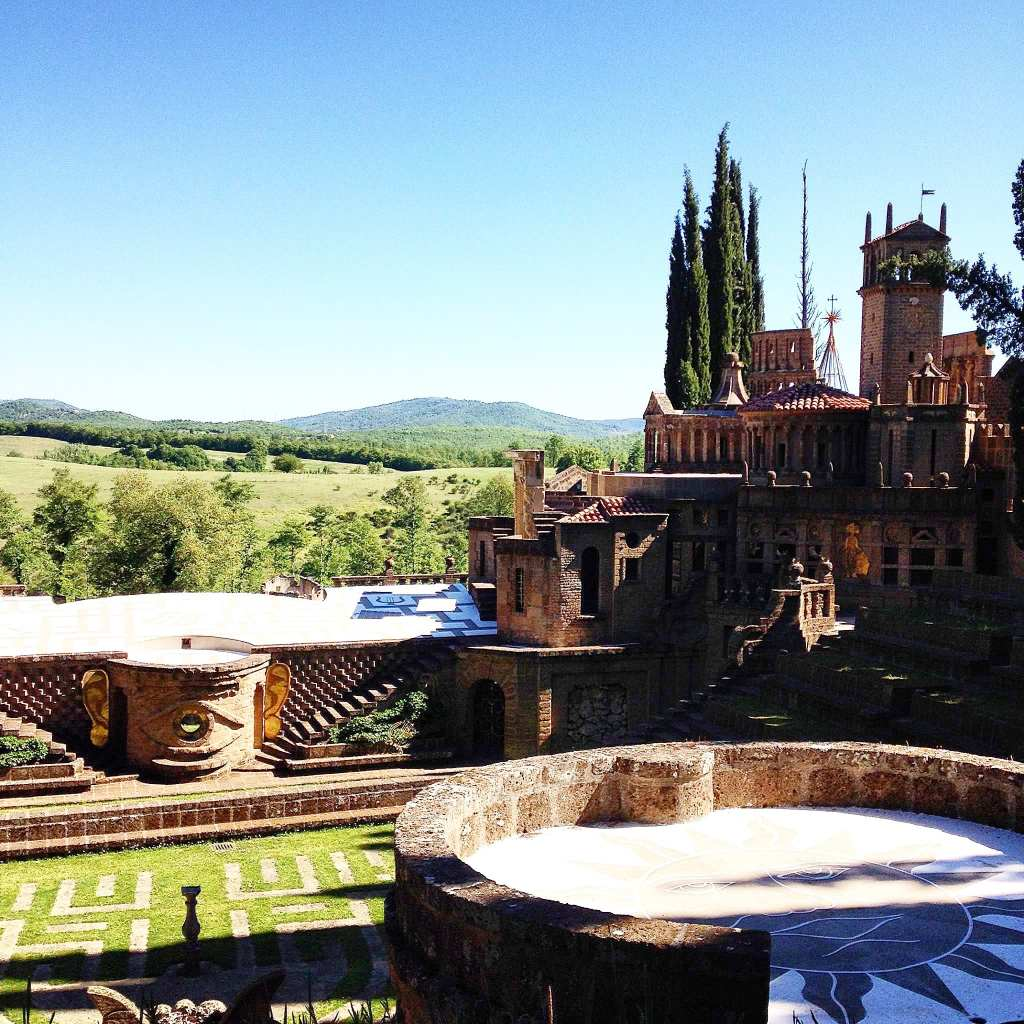 La Scarzuola's strange architecture stands out like a fantasy castle agains the landscape of Central Italy.