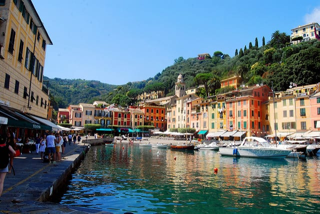Portofino is one of the most picturesque and famous towns on the Italian Riviera | Photo via flickr, by Mr. Theklan. https://www.flickr.com/photos/theklan/14982460249/in/photolist-oPX2sa-fP5uE3-p3AKPA-fNMXZc-33zAVq-btnwzf-fNMW6v-fP5udY-9rhf8i-fNMYqM-4723Qz-5esntn-eb497U-ehiaH9-jSyW36-oJE9HJ-5pQRSM-33zDY9-c9PjeN-eb4hob-33zBRL-6MAEYK-2V3aRW-dDaWcd-hr1mi-GdgcT-eaNhsP-299xmp-eb2eUh-e5thGj-2prbQM-bmKsqX-GdgwF-raXvRS-2prbRx-dsfkVD-oucpNd-eaXmQr-hr1mj-fQETEH-d9ZyJH-BNHiuB-eaUbUA-m3hyCp-6YXm7f-8v3mod-4V5c7a-h9hZ4M-h9iuZs-9wr2y6