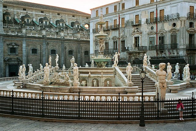 The Fontana Pretoria was originally created for a private garden in Florence. When it was unveiled in Palermo is was deemed inappropriate. Photo by Bernhard J. Scheuvens