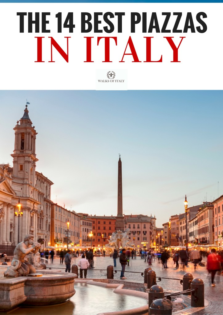 The Piazza Navona at sunset is one of the great things to see in Italy. Check out the Walks of Italy list of the Italian piazzas that all visitors should see.