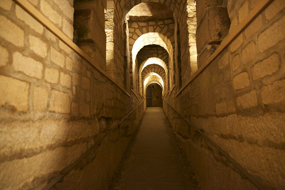 paris catacombs reconstructed tunnel