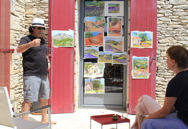Yves Larocque art instructor of our painting workshops in Provence open to artists of all levels