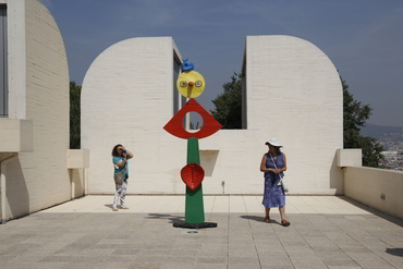 Visiting the Miró Museum during our art history tour in Barcelona after painting in Provence