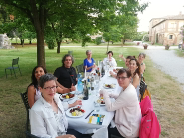 Gastronomic dinner during Studio Italia our painting retreat in Tuscany