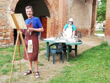 Studio Italia our art workshop in Tuscany for artists of all levels