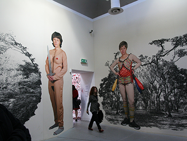 Woman visiting the Venice Biennale during an educational art trip in Italy by Walk the Arts