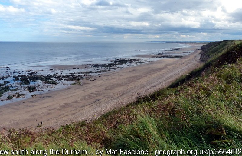 View south along the Durham Heritage Coast