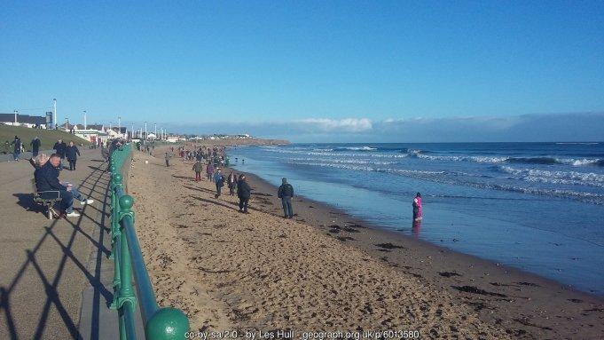 Beach and Whitburn Bay Glorious day