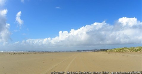 Big beach, big skies Looking west along Traeth Creigddu (Black Rock Sands) at Morfa Bychan