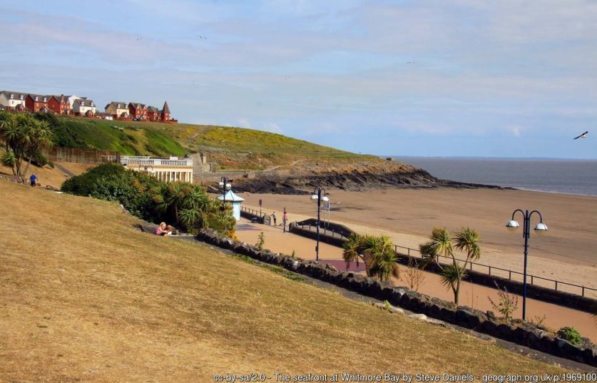The seafront at Whitmore Bay