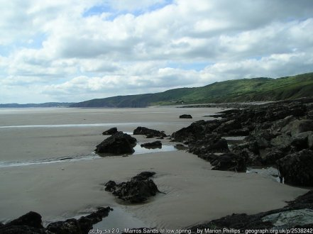 Marros Sands at low spring tide