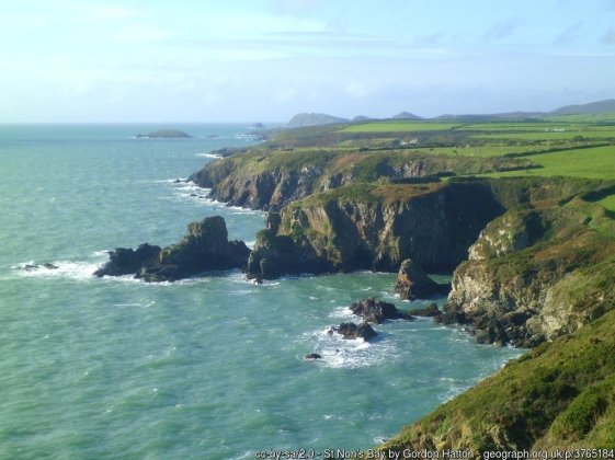 St Non's Bay Dramatic coastal scenery to the south of St Davids.